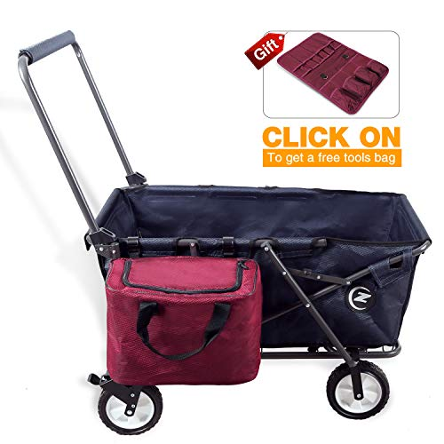 REDCAMP-Collapsible-Wagon-Cart-1200D600D-Canvas-Folding-Utility-Wagon-All-Terrain-Outdoor-Sports-0