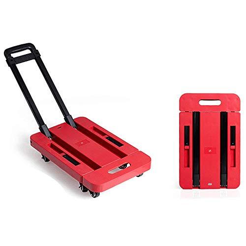 RSGK-Portable-Small-Trailer-Multi-Function-Household-Shopping-Cart-Folding-Flatbed-Red-6-Wheel-Balance-Support-0-0
