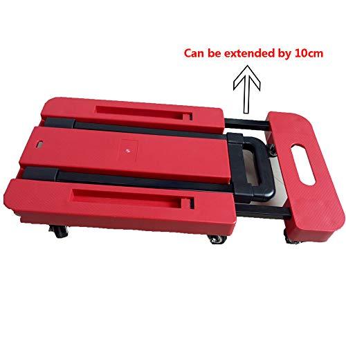 RSGK-Portable-Small-Trailer-Multi-Function-Household-Shopping-Cart-Folding-Flatbed-Red-6-Wheel-Balance-Support-0-1