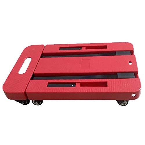 RSGK-Portable-Small-Trailer-Multi-Function-Household-Shopping-Cart-Folding-Flatbed-Red-6-Wheel-Balance-Support-0