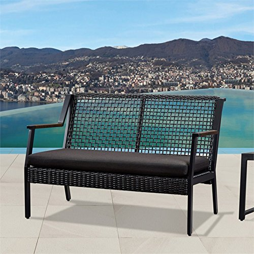 Real-Flame-Calvin-Aluminum-Patio-Loveseat-in-Black-0-0