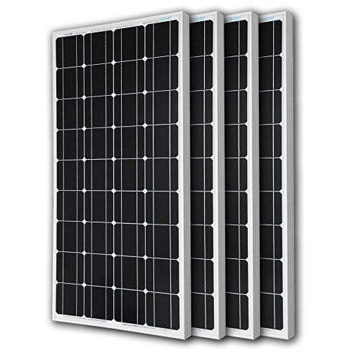 Renogy-4RNG-100D-4-Piece-100W-Monocrystalline-Photovoltaic-PV-Solar-Panel-Module-12V-Battery-Charging-0