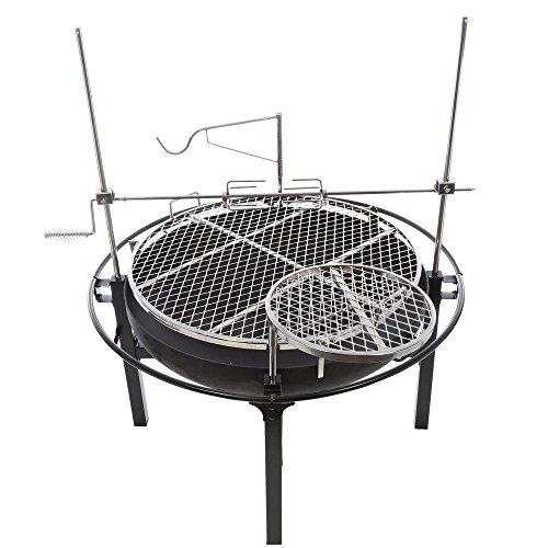 RiverGrille-Cowboy-31-in-Charcoal-Grill-and-Fire-Pit-with-Rotisserie-0-0