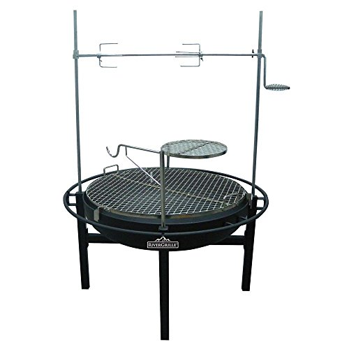 RiverGrille-Cowboy-31-in-Charcoal-Grill-and-Fire-Pit-with-Rotisserie-0