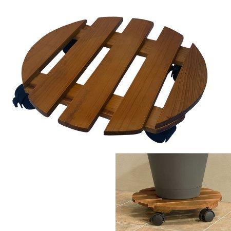 Rolling-Caddy-Indoor-Plant-Outdoor-14-in-Wood-0-0