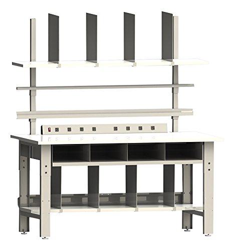 Roosevelt-Series-Premium-Packaging-Bench-Set-With-Formica-Laminate-Top-And-Round-Front-Edge-30-Depth-x-60-Width-30-36-Adjustable-Height-0