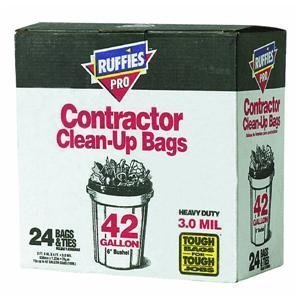 Ruffies-Pro-1124887-42-Gallon-Black-Contractor-Clean-Up-Bags-24-Count-by-Ruffies-Pro-0