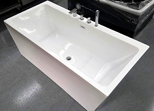 SDI-Deals-67-Soaking-Freestanding-Pedestal-Bathtub-White-Acrylic-Indoor-Tub-White-0-0