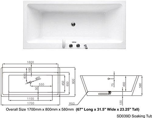 SDI-Deals-67-Soaking-Freestanding-Pedestal-Bathtub-White-Acrylic-Indoor-Tub-White-0-2