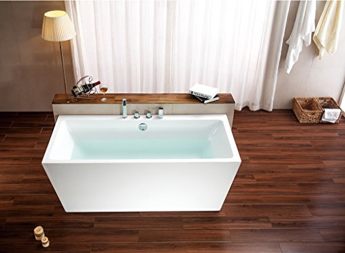 SDI-Deals-67-Soaking-Freestanding-Pedestal-Bathtub-White-Acrylic-Indoor-Tub-White-0