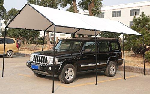 SORARA-Carport-10-x-20-Outdoor-Car-Canopy-Gazebo-8-Steel-Legs-White-0-0