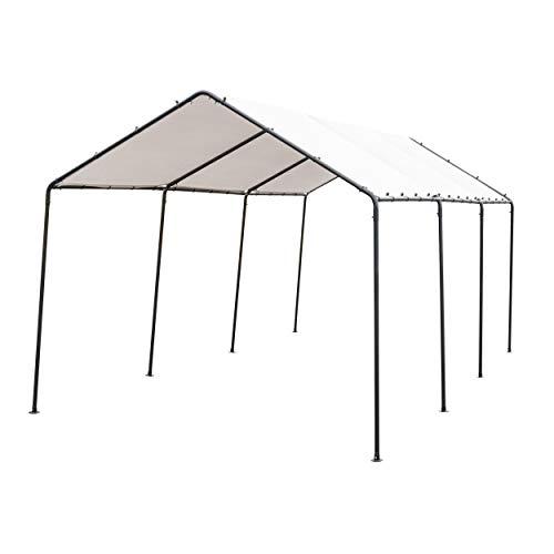 SORARA-Carport-10-x-20-Outdoor-Car-Canopy-Gazebo-8-Steel-Legs-White-0