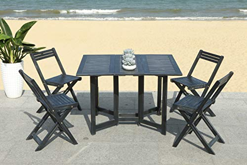 Safavieh-Outdoor-Living-Collection-Arvin-5-Piece-Dining-Set-Teak-Brown-0-0