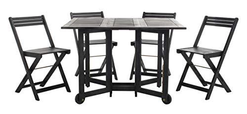 Safavieh-Outdoor-Living-Collection-Arvin-5-Piece-Dining-Set-Teak-Brown-0-2