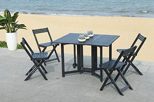 Safavieh-Outdoor-Living-Collection-Arvin-5-Piece-Dining-Set-Teak-Brown-0