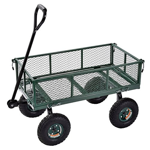 Sandusky-Lee-CW3418-Muscle-Carts-Steel-Utility-Garden-Wagon-400-lb-Load-Capacity-21-34-Height-x-34-Length-x-18-Width-Pack-of-1-0