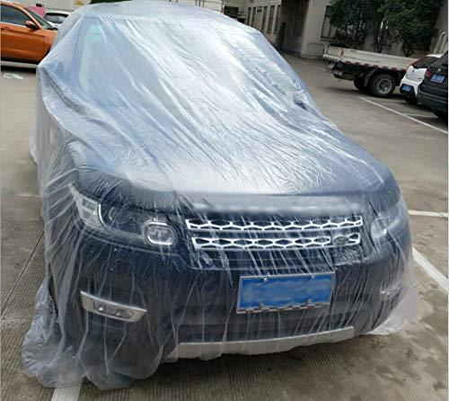 SaveStore-Clear-Plastic-Temporary-Universal-Disposable-Car-Cover-3866M-Rain-Dust-Garage-US-0-0