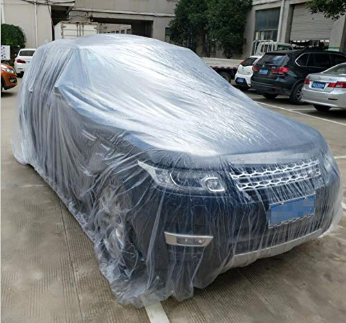 SaveStore-Clear-Plastic-Temporary-Universal-Disposable-Car-Cover-3866M-Rain-Dust-Garage-US-0-1
