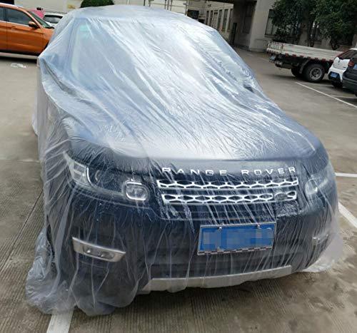 SaveStore-Clear-Plastic-Temporary-Universal-Disposable-Car-Cover-3866M-Rain-Dust-Garage-US-0-2