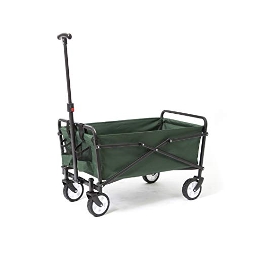 Seina-Heavy-Duty-Compact-Folding-150-Pound-Capacity-Outdoor-Utility-Cart-Green-0-0