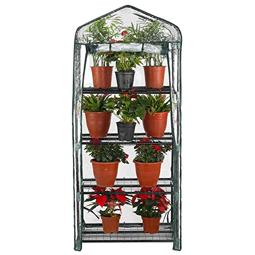 Seven-colors-house-4-Tier-Portable-Transparent-Greenhouse-for-Indoor-Outdoor-Gardening-27-Long-x-19-Wide-x-63-High-0-0
