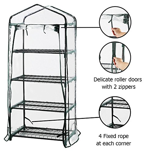 Seven-colors-house-4-Tier-Portable-Transparent-Greenhouse-for-Indoor-Outdoor-Gardening-27-Long-x-19-Wide-x-63-High-0-1