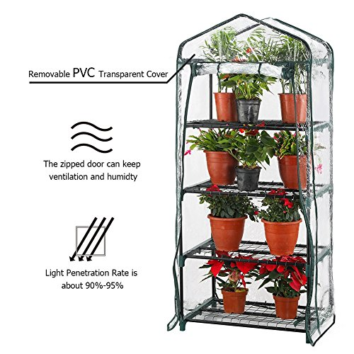 Seven-colors-house-4-Tier-Portable-Transparent-Greenhouse-for-Indoor-Outdoor-Gardening-27-Long-x-19-Wide-x-63-High-0-2