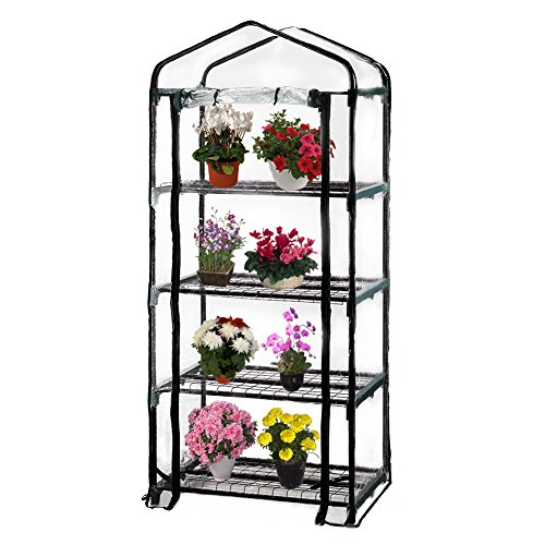 Seven-colors-house-4-Tier-Portable-Transparent-Greenhouse-for-Indoor-Outdoor-Gardening-27-Long-x-19-Wide-x-63-High-0