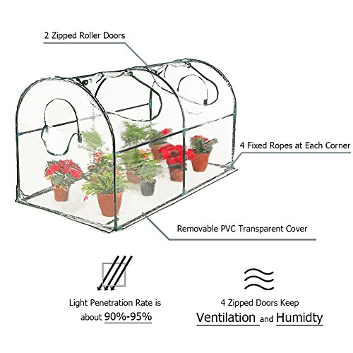 Seven-colors-house-Reinforced-Portable-Mini-Greenhouse-354x708x39-Vegetable-Plant-Mini-Arc-Greenhouse-Clear-Cover-Indoor-Outdoor-Plants-0-1