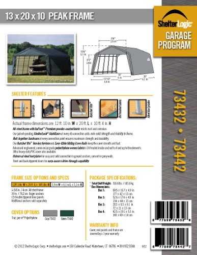 ShelterLogic-73432-Grey-12x20x10-Peak-Style-Shelter-0-0