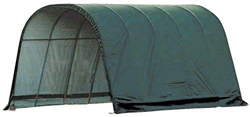 ShelterLogic-Round-Style-Run-In-Shelter-Green-0
