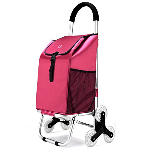 Shopping-cart-hand-Push-car-Aluminum-alloy-foldable-household-Cloth-bag-Six-rounds-climb-floor-Style-0