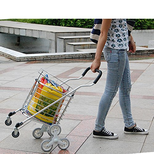 Shopping-cart-hand-Push-car-Aluminum-alloy-foldable-portable-buy-dish-car-hand-Push-car-0-0