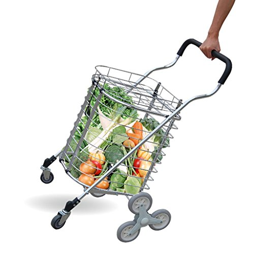 Shopping-cart-hand-Push-car-Aluminum-alloy-foldable-portable-buy-dish-car-hand-Push-car-0
