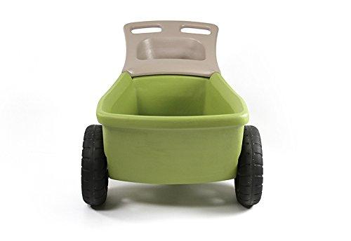 Simplay3-Easy-Haul-Plastic-Wheelbarrow-wGarden-Tool-Storage-Tray-4-cubic-ft-Capacity-0-0