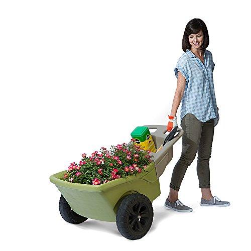 Simplay3-Easy-Haul-Plastic-Wheelbarrow-wGarden-Tool-Storage-Tray-4-cubic-ft-Capacity-0-2