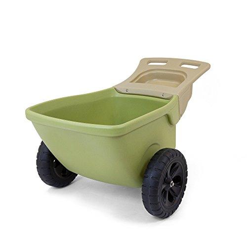 Simplay3-Easy-Haul-Plastic-Wheelbarrow-wGarden-Tool-Storage-Tray-4-cubic-ft-Capacity-0