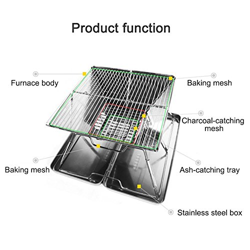 Sondre-Portable-Camping-Grill-with-Bag-Foldable-BBQ-Grill-Charcoal-Grill-Stainless-Steel-0-0