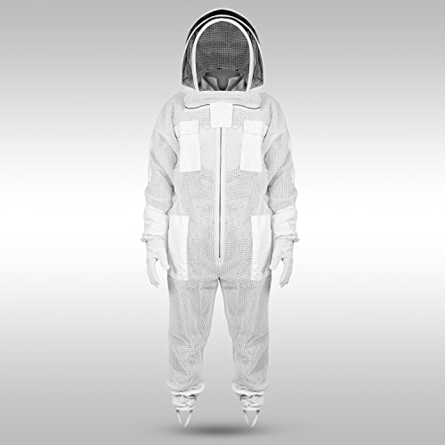 Sparx-Sports-Ventilated-Beekeeping-Suit-Clear-View-Fencing-Veil-Keep-Cool-Comfortable-with-Maximum-Protection-Professional-Beginner-Beekeepers-with-Gloves-0