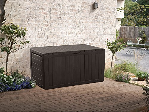 Stylish-Outdoor-Storage-Deck-Box-Durable-Polypropylene-Construction-For-Both-Interior-And-Exterior-Use-Keeps-Items-Dry-And-Well-Ventilated-Appealing-Decorative-Paneled-Design-Easy-To-Move-0-1