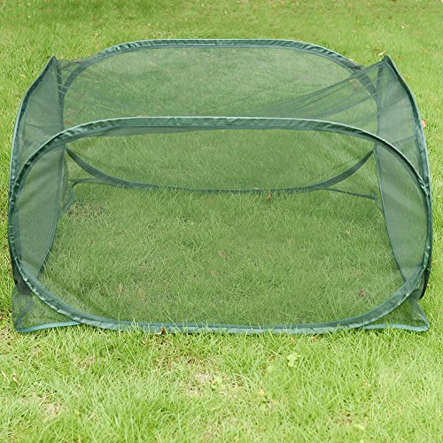 Sundale-Outdoor-Portable-Gardening-Green-House-Mini-Lightweight-Greenhouse-with-Polypropylene-Mesh-Fireproof-Insect-Prevention-394L-x-394W-x-197H-Green-0-1