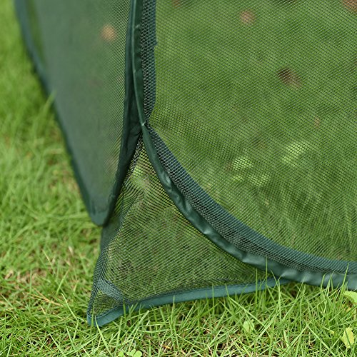 Sundale-Outdoor-Portable-Gardening-Green-House-Mini-Lightweight-Greenhouse-with-Polypropylene-Mesh-Fireproof-Insect-Prevention-394L-x-394W-x-197H-Green-0-2