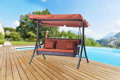 Sunjoy-3-Seat-Striped-Adjustable-Tilt-Canopy-Wicker-Metal-Swing-0-0