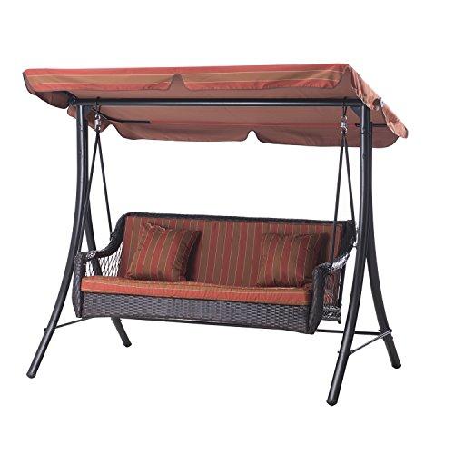 Sunjoy-3-Seat-Striped-Adjustable-Tilt-Canopy-Wicker-Metal-Swing-0