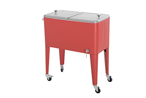 Sunjoy-60-quart-Red-Steel-Beverage-Cooler-0-2
