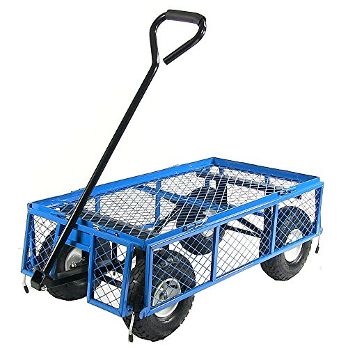 Sunnydaze-Utility-Steel-Garden-Cart-Outdoor-Lawn-Wagon-with-Removable-Sides-Heavy-Duty-400-Pound-Capacity-Blue-0-2