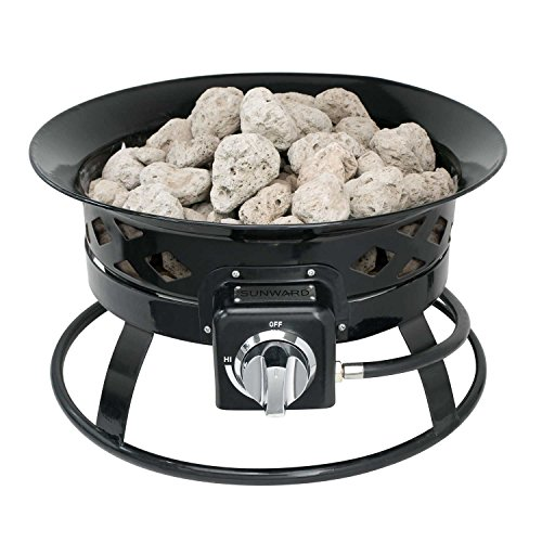 Sunward-Patio-Portable-Outdoor-58000-BTU-Propane-Fire-Pit-19-Fire-BowlLava-Rocks-Carry-Handle-Lid-and-Weather-Resistant-Bag-Included-0-0