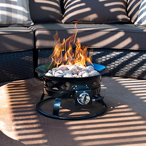Sunward-Patio-Portable-Outdoor-58000-BTU-Propane-Fire-Pit-19-Fire-BowlLava-Rocks-Carry-Handle-Lid-and-Weather-Resistant-Bag-Included-0