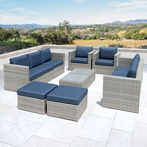 Supernova Outdoor Furniture 12 Pieces Garden Patio Sofa