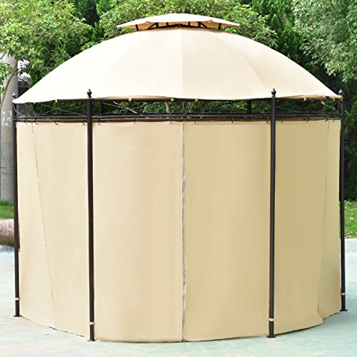 TANGKULA-10-ft-Round-Gazebo-Canopy-Shelter-Outdoor-Tent-with-Side-Walls-0-2